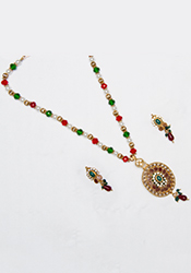 Captivating Polki Necklace Set