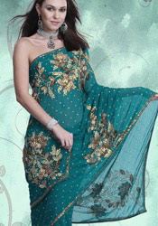 Gorgeous Green Saree